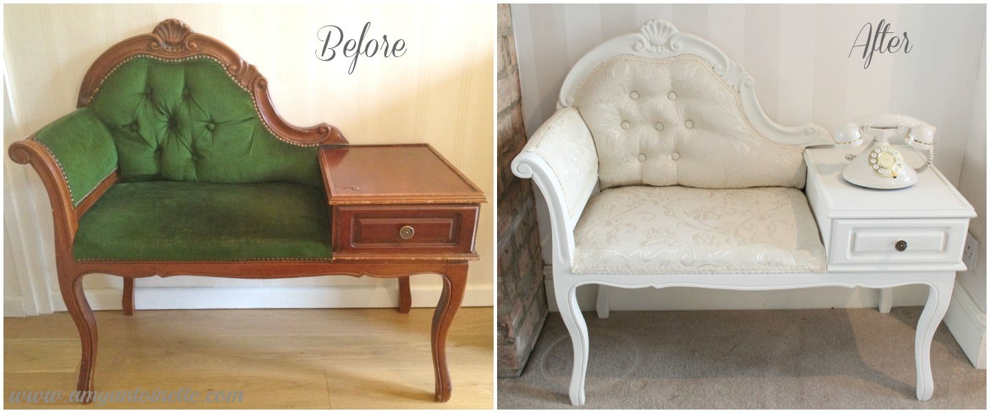 - Shabby To Chic - Upcycled Vintage Telephone Table - Amy Antoinette