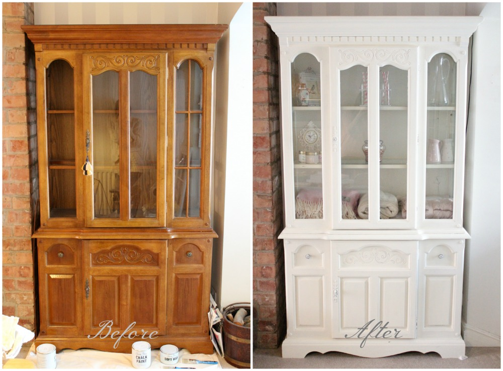 Shabby To Chic Upcycled Display Cabinet Amy Antoinette
